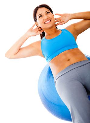 Woman doing Pilates exercises